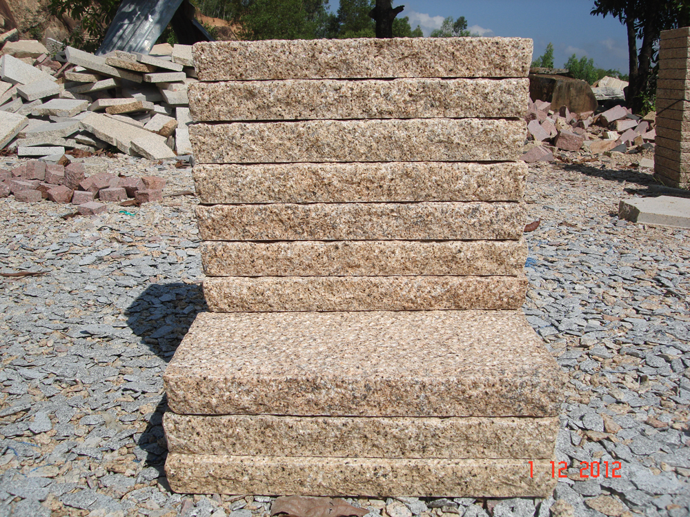 Yellow granite paving 5