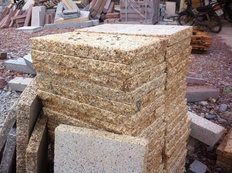Yellow granite slab_30x60x6_Hand-worked